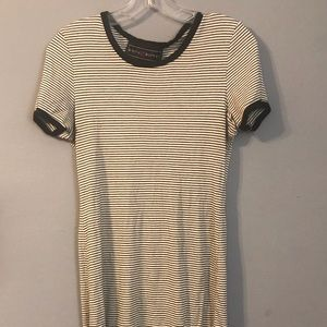 White with black stripes dress casual.
